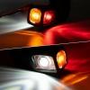 Комплект 2 броя Рогчета, Гумени Странични Маркери, Габаритни Светлини за Камион ТИР Ремарке 12V