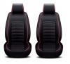 Универсална Кожена Тапицерия, Калъфи за предни седалки Черно и Червено