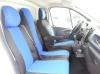 Калъфи тапицерия за предни седалки Flexzon за Opel Vivaro 2014+ / Renault Traffic, Сини