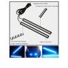 LED светодиодна дневна светлина за автомобил 12V COB DRL - 17см синя