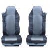Калъф/тапицерия от плат и кожа за седалки  за DAF CF, LF, XF95, XF105, Сиви