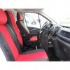 Калъфи тапицерия за предни седалки за Opel Vivaro 2014+ / Renault Traffic, Червени