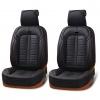 Комфортна, висококачествена Еко - кожа Калъф/тапицерия за предни седалки Flexzon, Черно
