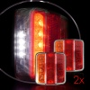 Комплект LED Диодни Стопове 12V 24V Волта бус камион ТИР ремарке