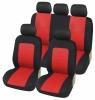 Универсална Авто тапицерия Kалъфи За Седалки Пълен Комплект 9 Части Червено Черно